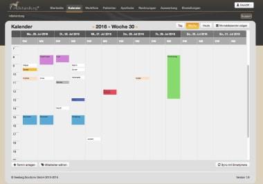 Kalender - Übersichtliche Terminplanung, Tierarztsoftware inBehandlung